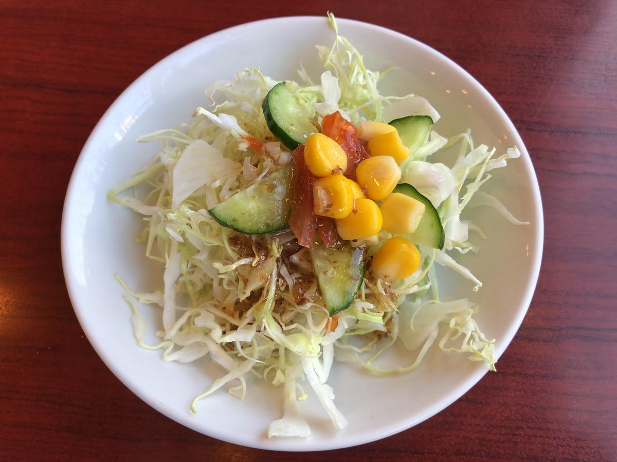 サラダが一番おいしいのですよ。最も。最上級。