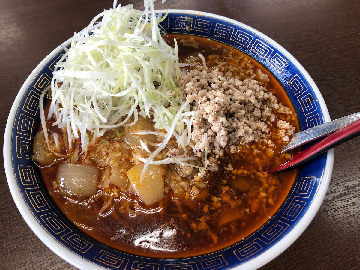 これぞ元祖勝浦式担々麺。の上、上担々麺。勝浦タンタンメンとカタカナが好きなのですごくお堅い感じがするぜメェン。