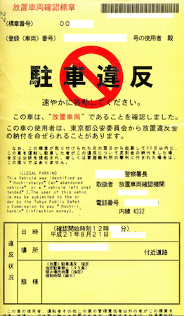 罰金 駐車 違反