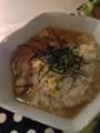 めかじき玄米味噌漬け 雑炊 れんこんはさみ揚げ もずく酢柚子豆腐