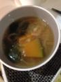 おでん かぼちゃと小松菜の味噌汁 豚肉ともやしと小松菜のオイマヨ炒