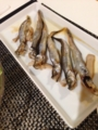 水菜とハムのサラダ レンコンはさみ揚げ ししゃも 中華丼