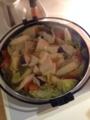 たら鍋 白菜・水菜 オクラ納豆