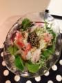 もずく酢サラダ 味噌汁 ほうれん草の巣ごもり卵 たらと高野豆腐のすき