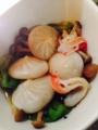 厚切りハムのガリペッパー 刺身こんにゃくとちくわの酢味噌和え 小籠