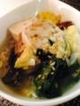 豚バラニラ豆腐 ハンバーグon目玉焼き 納豆のせ卵豆腐