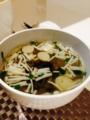 ゴーヤキムチチャンプルー ねぎ納豆 ニラと蟹かま卵とじ丼