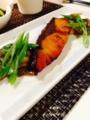 たたききゅうり ぶり照り焼き 茄子と白ネギの豚味噌炒め