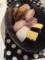 すし ウインナーエッグのチーズ焼き とろろ湯豆腐