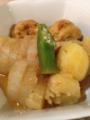 ししゃも 大根と枝豆がんもの関東煮 じゃことわかめの冷奴 落とし卵の