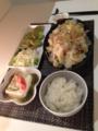 もずく酢冷奴 バリ麺xキャベツxもやし 枝豆れんこんの天ぷら