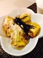 じゃこ天 小松菜と豆腐のチャンプル 納豆玉子焼き