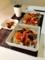 カボチャのミートソースグラタン オクラ納豆 サーモンたたき漬け丼