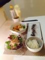 しめ鯖 ごぼうサラダ 小松菜x木綿豆腐