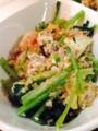 小松菜と木綿豆腐のチャンプル ごぼうサラダ 麻婆茄子チーズ