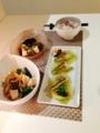 甘鯛のバジル焼き めかぶえのき豆腐 ししとうともやしの味噌炒め