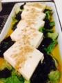 小松菜とタケノコの卵中華炒め 秋鮭の味噌バター焼 豆腐とレタスの海
