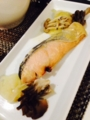終日 献立 温玉のせ小松菜カレー炒め 終日 献立 鮭ときのこの味噌焼