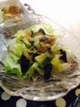 アボガドレタスサラダ 青梗菜とじゃがいものクリームスープ 納豆玉子