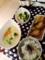 あじのみりん干し @大根ときゅうりの昆布漬け 白菜のクリームシチュー