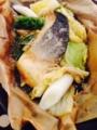 炊き込みご飯 @なすと大葉のあっさり漬 鮭と野菜の味噌バター蒸し