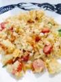チャーハン 水菜のスープ