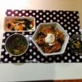 ワカメときゅうりの酢の物 小松菜のガリバタ炒め 豚もやしあんかけ丼