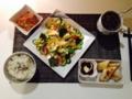 春巻き 切り干し大根の煮物 アボガドと豆腐のサラダ
