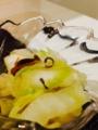 なすと白ネギのグリル焼き マヨポンで 蒟蒻とちくわのきんぴら 白菜の