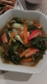 青梗菜蟹蒲中華スープ