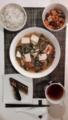 ニラと豆腐の中華煮