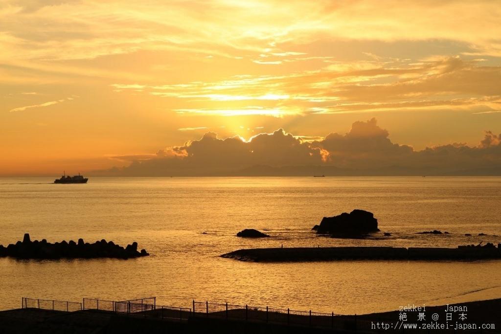 駿河湾の夕焼け