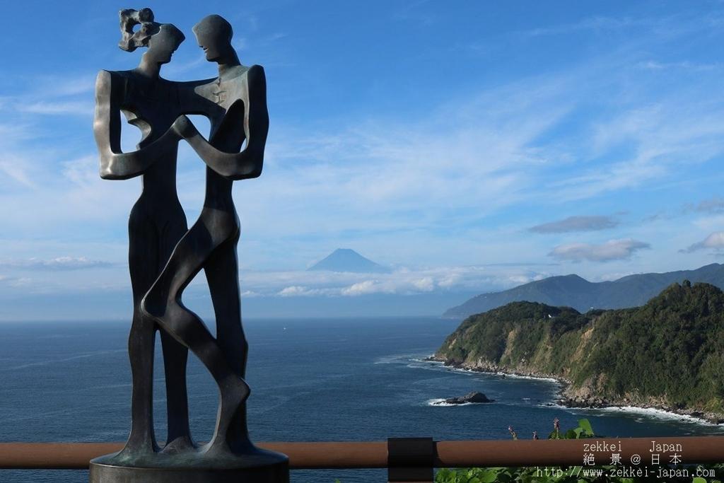 恋人岬から見る富士山