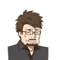 アイコン 黒シャツメガネ