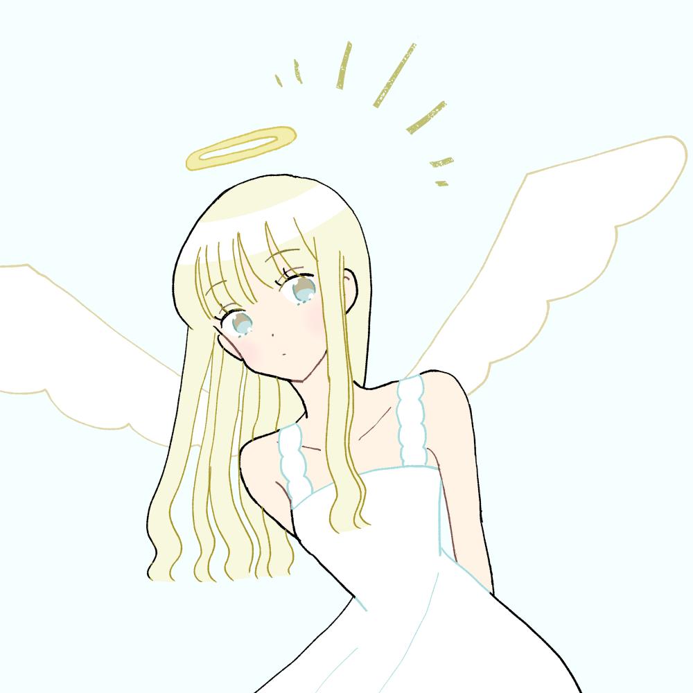 天使な女の子のイラスト素材