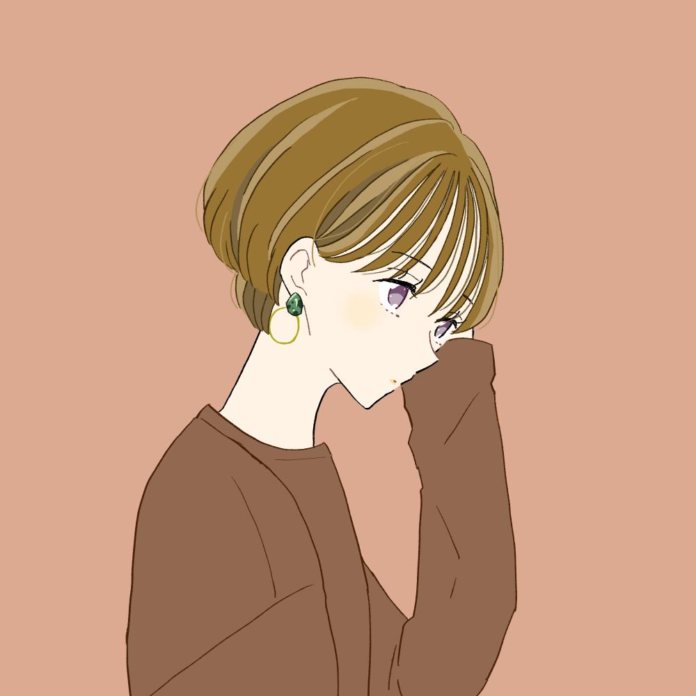 ショートボブの女の子のイラスト素材