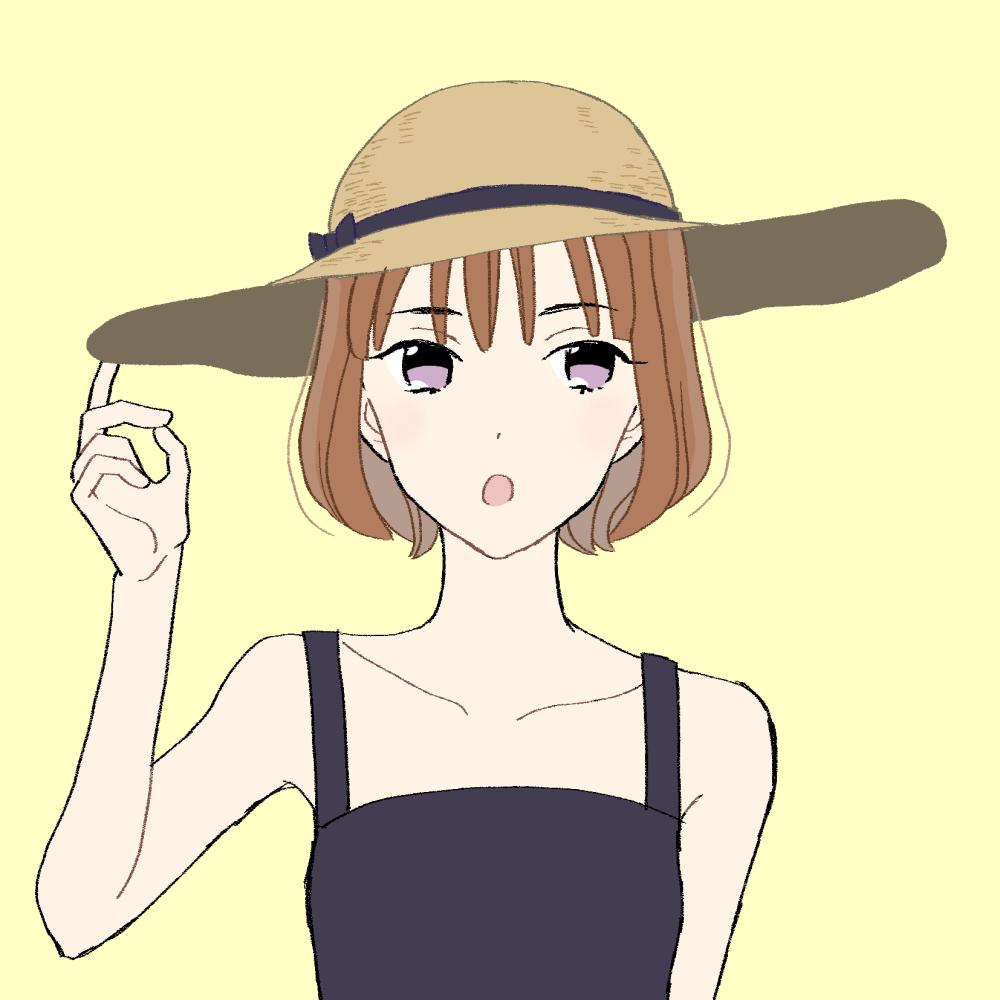 麦わら帽子の女の子のイラスト素材