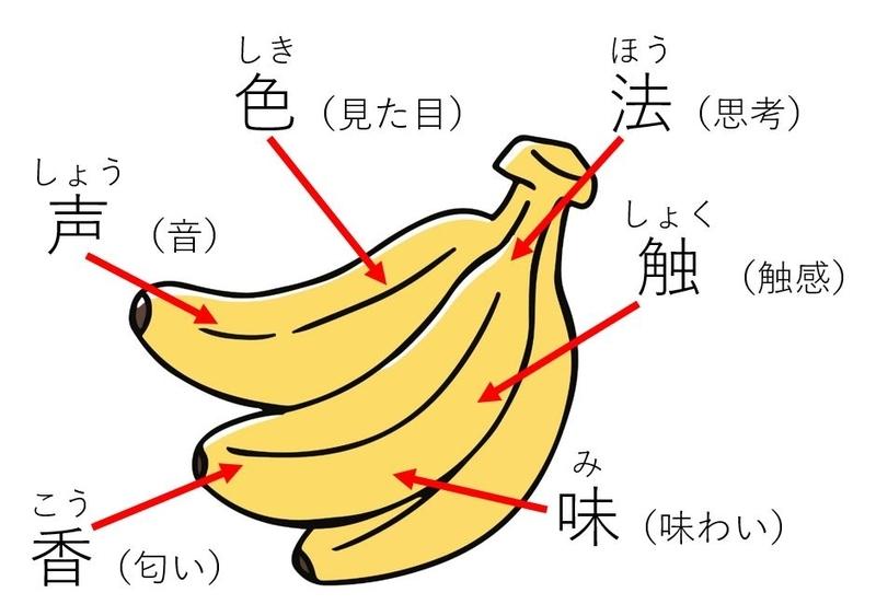 六境(色声香味触法),図説