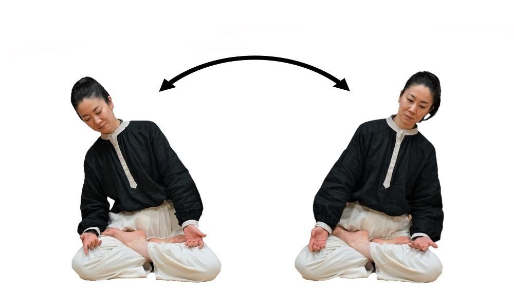 坐禅の仕方,左右揺振