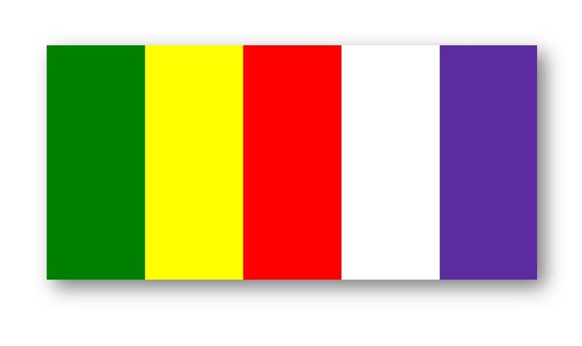 五色幕,仏旗,六金色旗