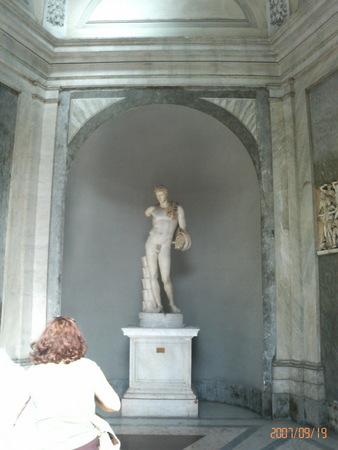 バチカン博物館にて