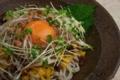 [上田][長野][和食][膳][Japanesefood][食][料理][ぱすた]冷やし納豆漬け物黒麦うどん