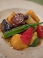 [上田][長野][和食][膳][Japanesefood]黒毛和牛と夏野菜の甘酢あん