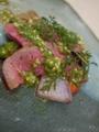 [上田][長野][和食][膳][Japanesefood]プレミアム信州牛ランプの低温ロースト温野菜添え