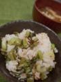 [上田][長野][和食][膳][Japanesefood]野沢菜の油炒めご飯