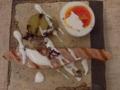 [上田][長野][和食][膳][Japanesefood]桜マスの燻製ティエド 新じゃが