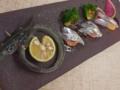 [上田][長野][和食][膳][Japanesefood]鳥取境港 サヨリのカルパッチョ スダチのドレッシング