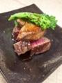 [上田][長野][和食][膳][Japanesefood]信州プレミアム和牛ランプとフォアグラのロッシーニ