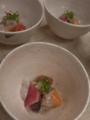 [上田][長野][和食][膳][Japanesefood]天然活締め平目と京野菜のマリネ