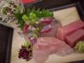 [上田][長野][和食][膳][Japanesefood]お造りカンパチ、メジマグロ、目鯛